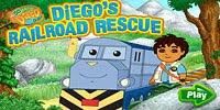 Диего помогает паровозику - Diego Railroad Rescue
