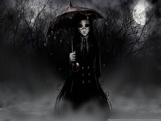 Coming Out Into The Rain Dark Gothic Wallpaper