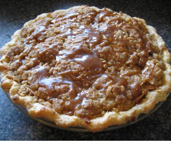 Crunchy Caramel Apple Pie