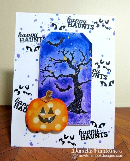 Happy Haunts Halloween Card by Danielle Pandeline | Stamps by Newton's Nook Designs
