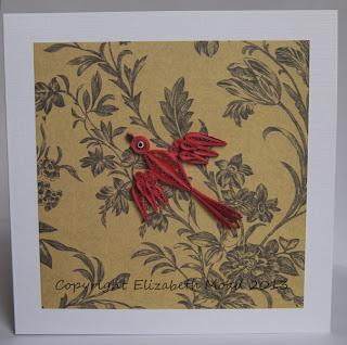 quilled red bird