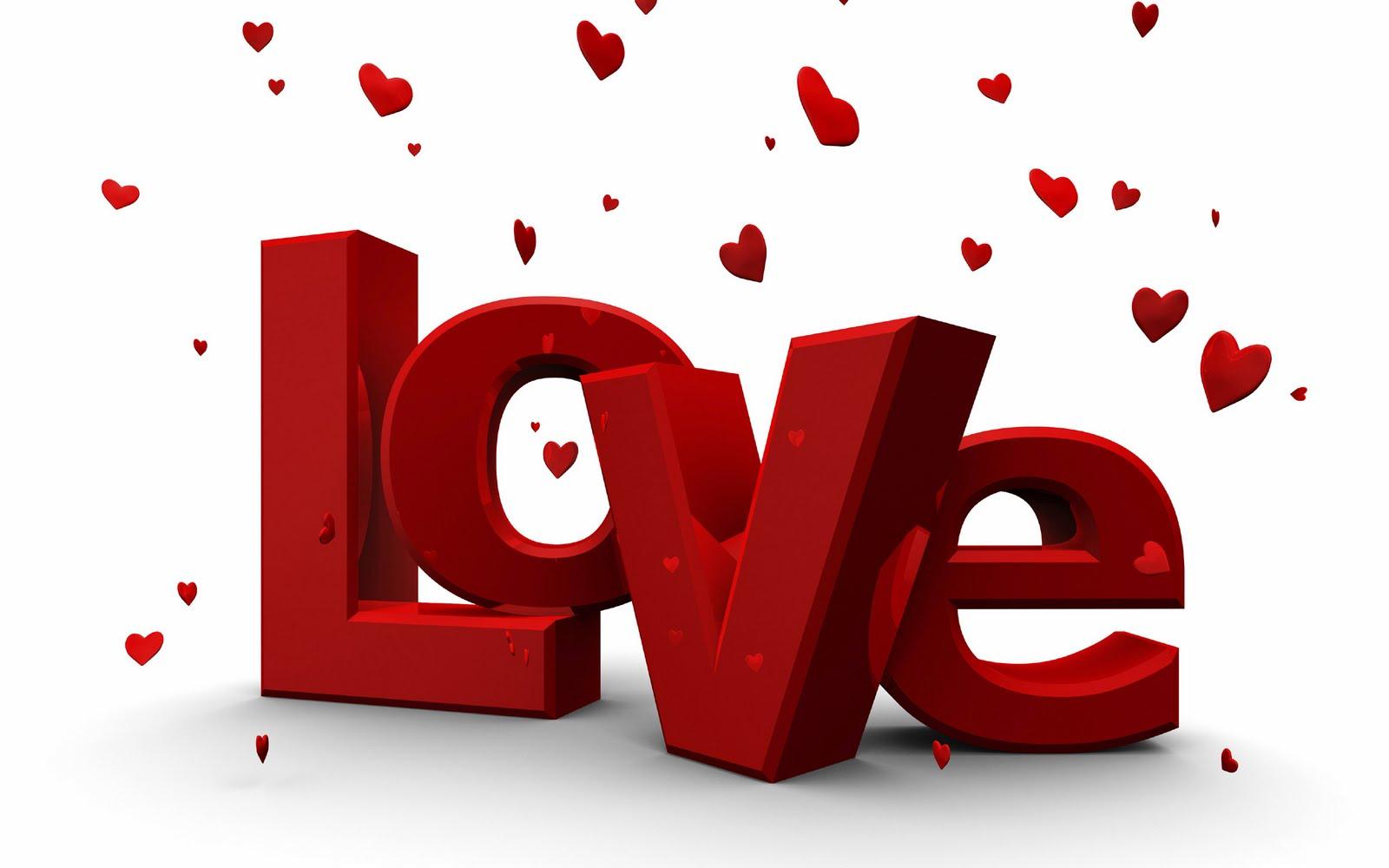 Imagem de fundo - love, com corações vermelhos