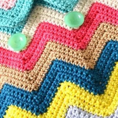 DIY zigzag crochet