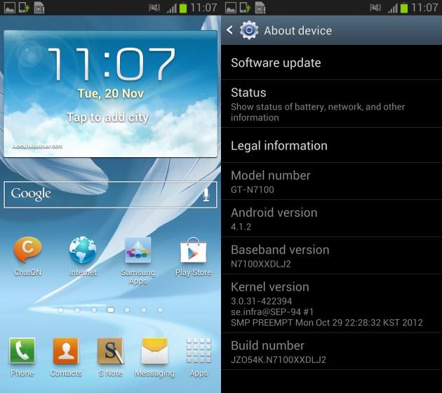Este firmware no es oficial, pero que puede ser usado como un firmware diario ya que no contienen muchos bugs y viene con interesantes mejoras como la posibilidad de añadir nuevas aplicaciones a la barra de notificaciones y personalizar las notificaciones en el panel de administración, teclado con funciones igual a la de Swype, mas estabilidad y fluidez, ademas de que puedes ir actualizando los nuevos firmware de Android 4.1.2 que vayan saliendo hasta que Samsung libere una versión estable vía OTA o Odin. Descarga N7100XXDLL7_N7100OXXDLL2_PHE.zip. Odin3 v3.04 Novedades del firmware N7100XXDLL7 Nuevas funciones añadidas a la barra de notificaciones