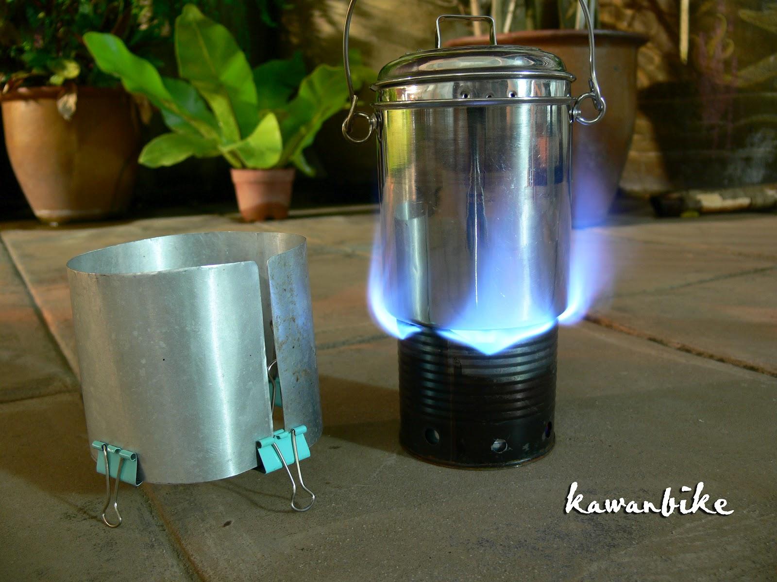 Kawanbike ultralight diy stove mini cook kit for Diy cooking stove