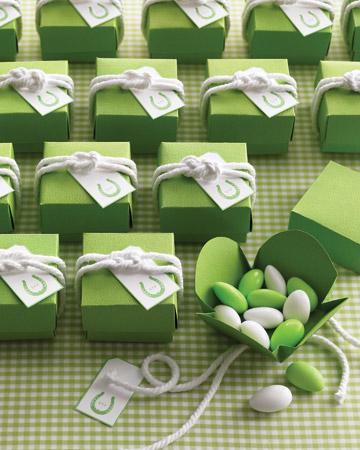 Almendras confitadas verdes para una boda