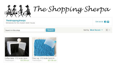 Screemshot of a newly-opened Etsy store.