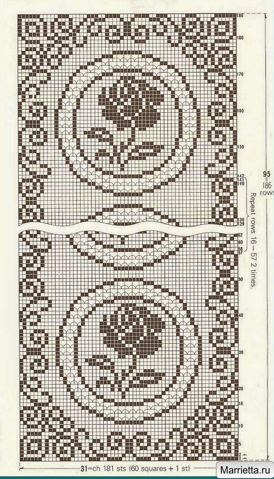 Вязание крючком салфетки прямоугольные со схемами