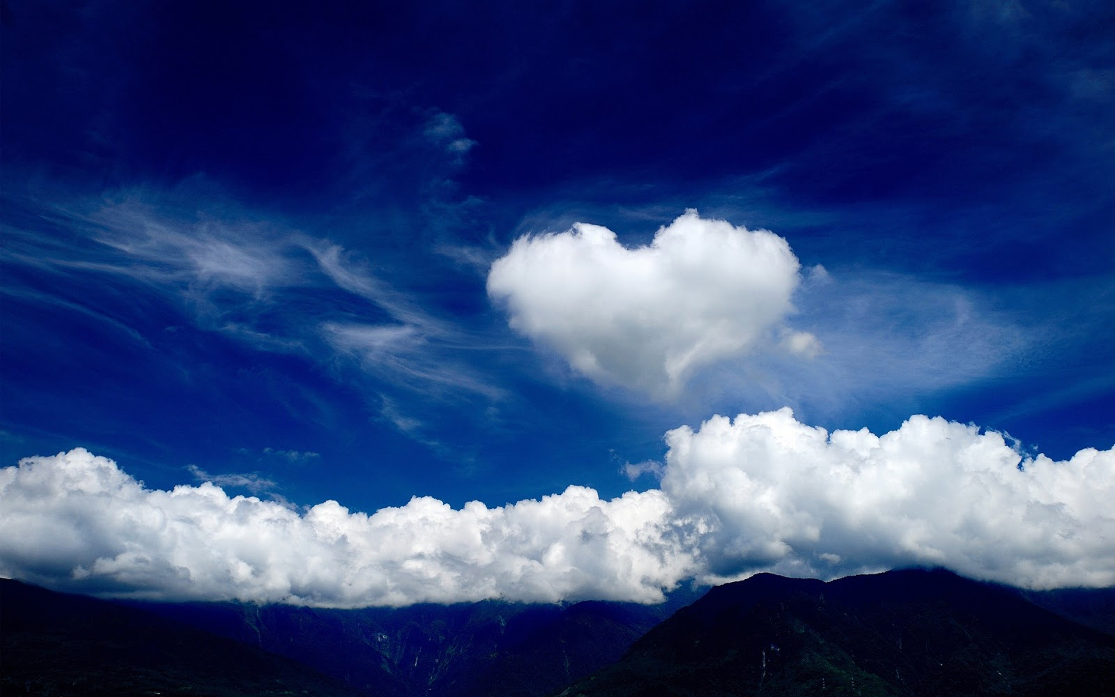 valentine 39 s day heart shaped cloud wallpapers art for