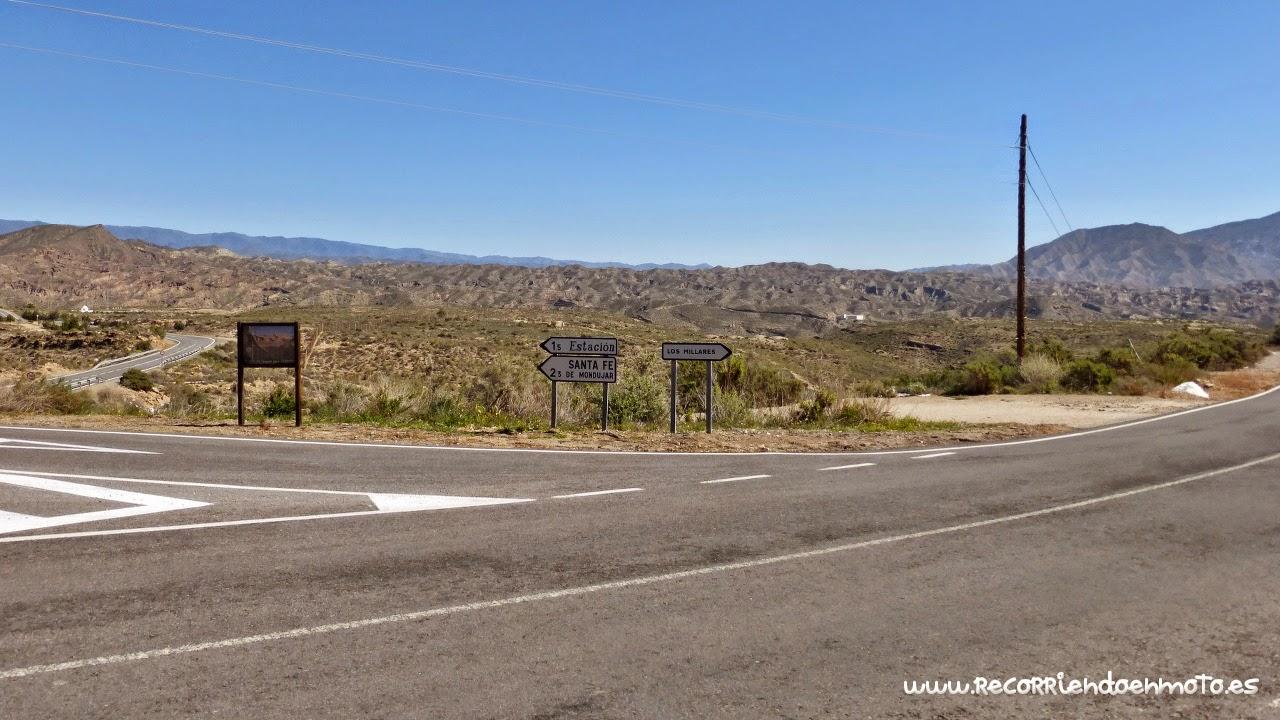 Paisaje semidesértico de Almería