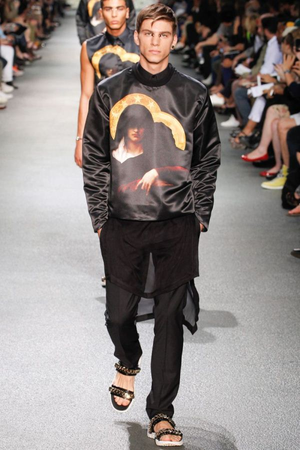 Male models on the runway S/S 2013 Menswear Givenchy
