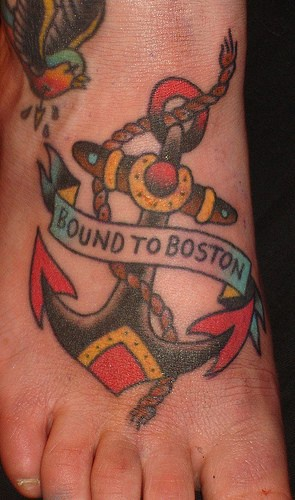 Shipping up to boston anchor tattoo