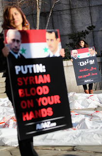 putin: syrian blood on your hands