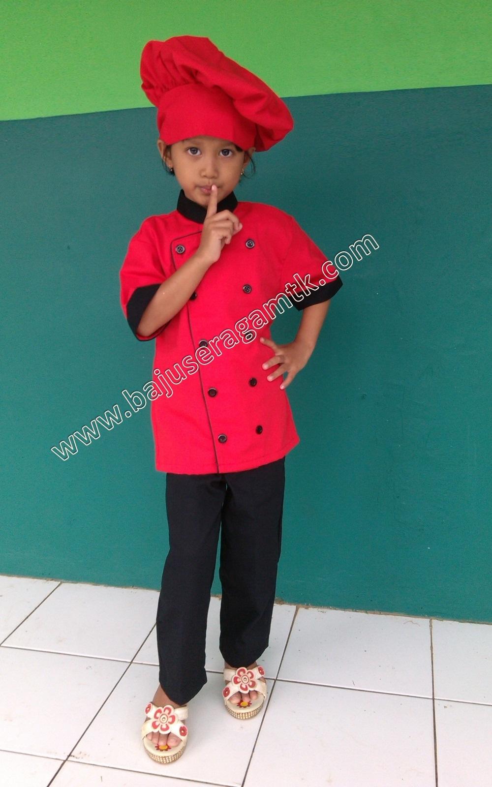 baju profesi anak  baju chef anak baju koki anak