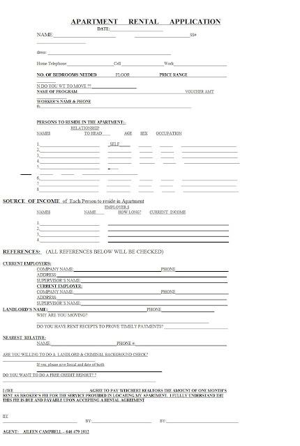 Sample Cover Letter For Rental Application – Apartment Application Sample