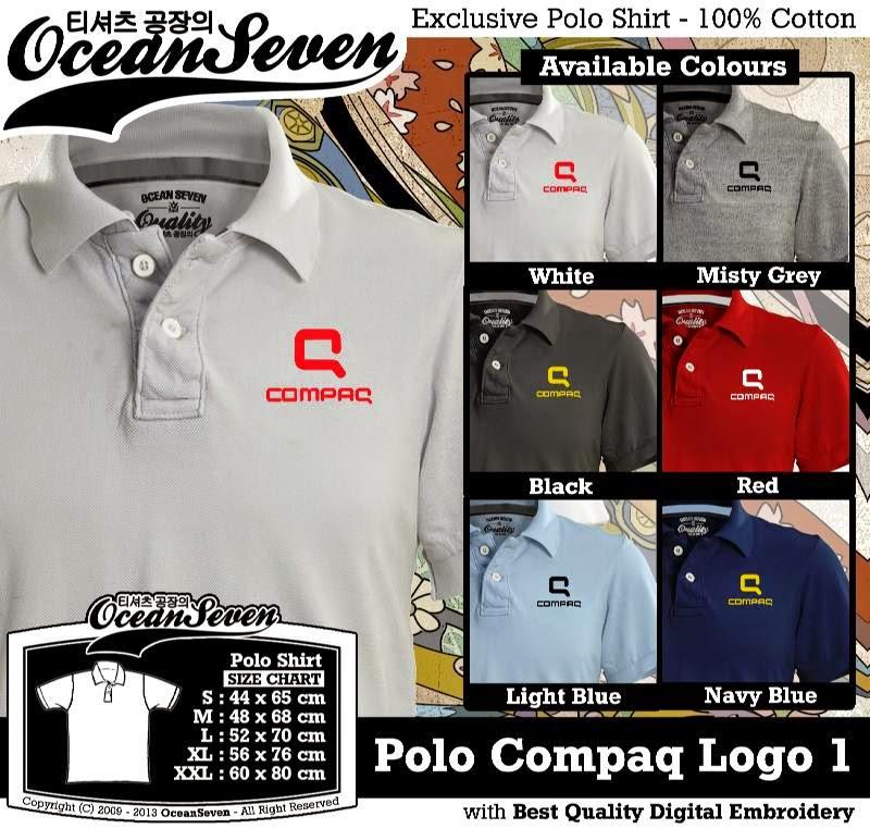 Kaos Polo Compaq Logo 1