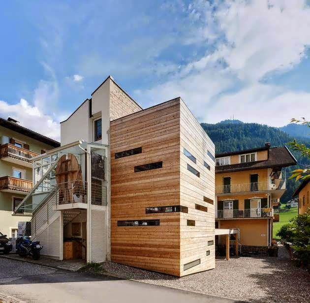 House design in the village of st ulrich ortisei the modern houses