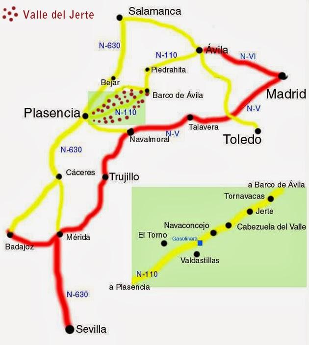 Cómo llegar al Valle del Jerte