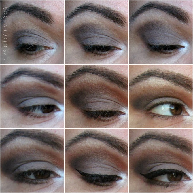 tutorial makeup ecobio con smokey eyes sul grigio e marrone