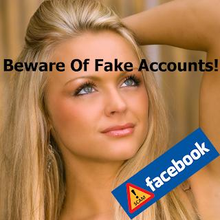 Facebook fake account warning