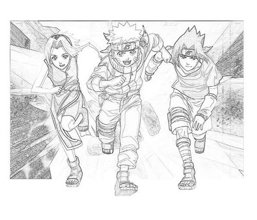 Dibujos animados para colorear: Naruto para colorear