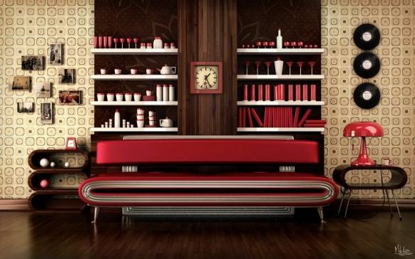 10 Retro Stil Wohnzimmer Entwurf - Deko Ideen
