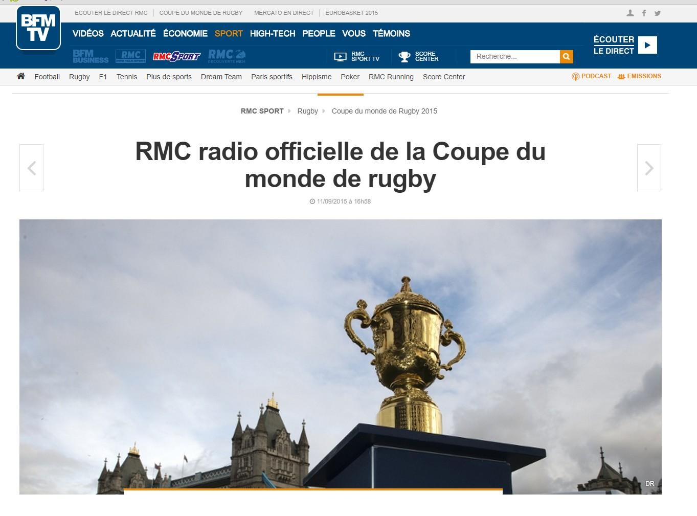 La maison du faucon c 39 est qui la radio officielle de la - Qui a gagner la coupe du monde de rugby 2015 ...