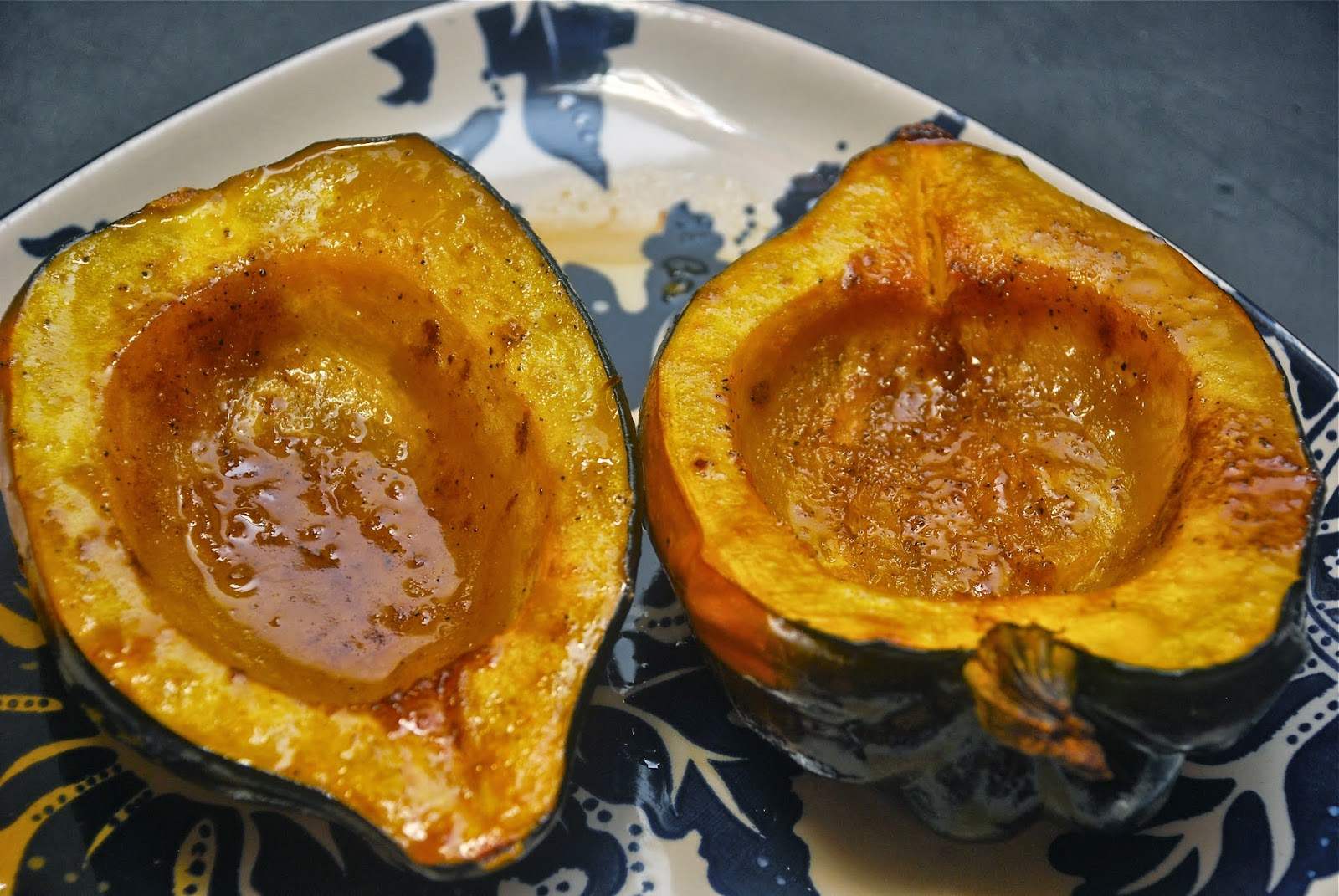 Tomatoes on the Vine: Baked Acorn Squash with Brown Sugar and Butter