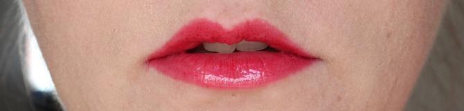 Michael Kors lip gloss on the lips