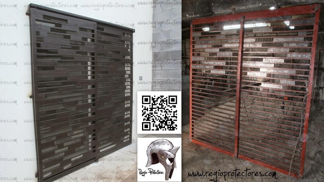 Regio protectores puerta corrediza for Puertas corredizas de herreria