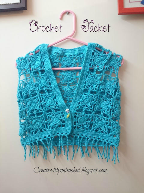 Crochet Jacket top Bolero