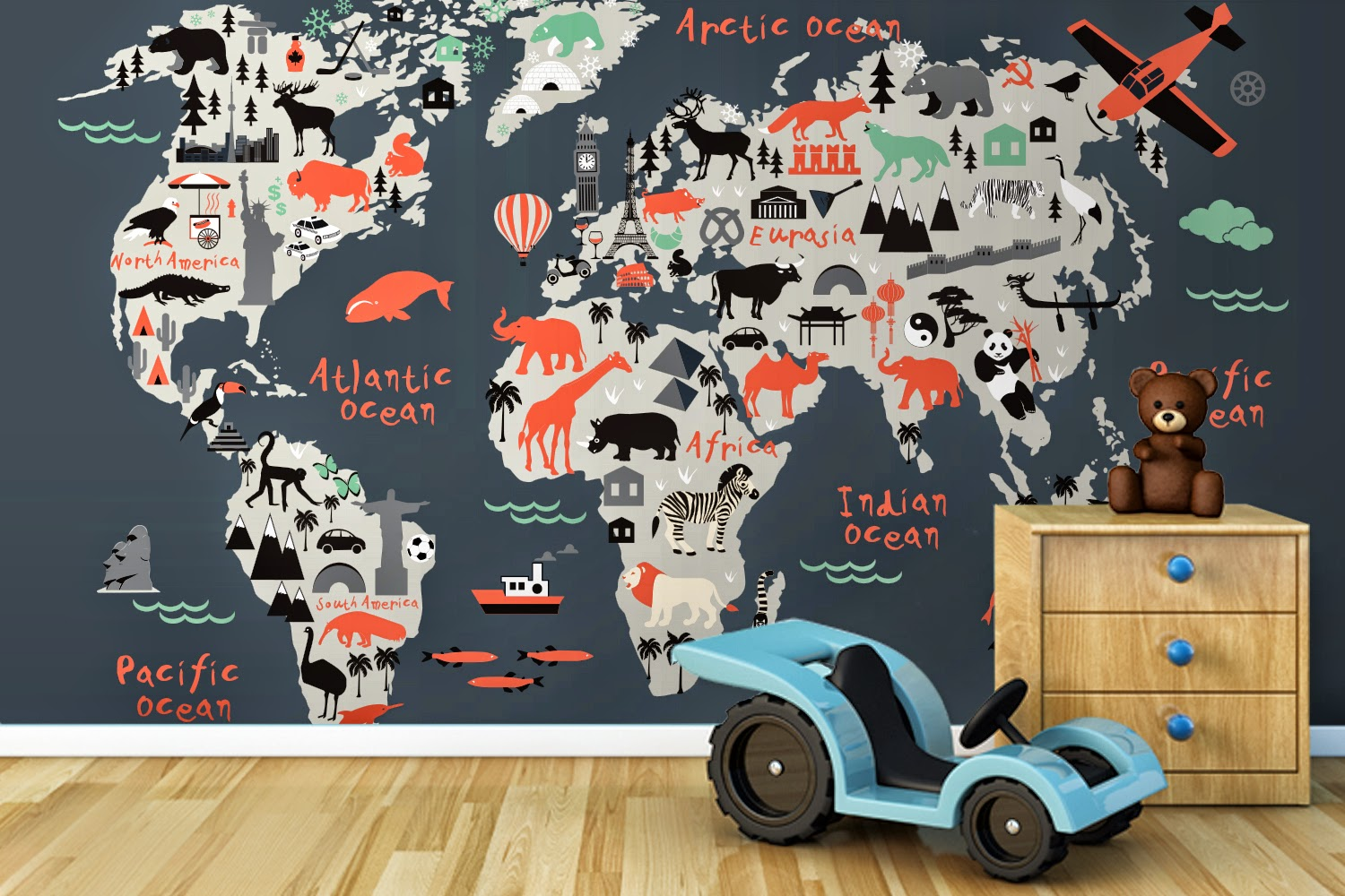 Life ninja killer cat and everything else win a for Boys mural wallpaper