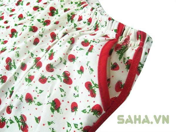 đồ thun mặc nhà trái dâu  3 màu 3179