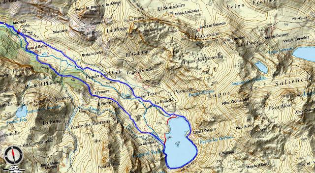 Mapa Topográfico 2 Ruta Valle del Lago