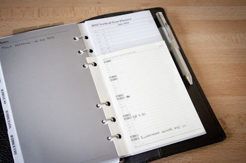 Filofax Vertical Year Planners