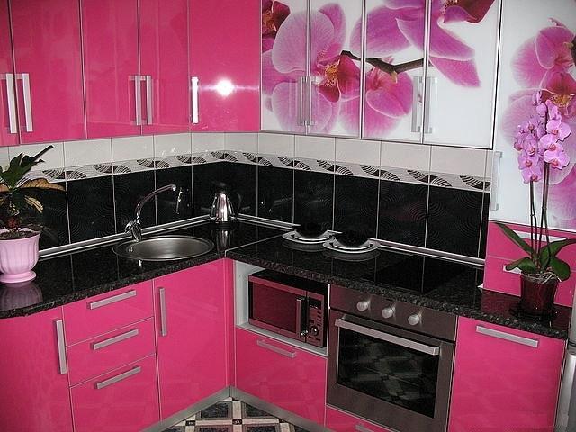 cozinhas rosas : Construindo Minha Casa Clean: Ambientes com Rosa Pink!!! Amei!