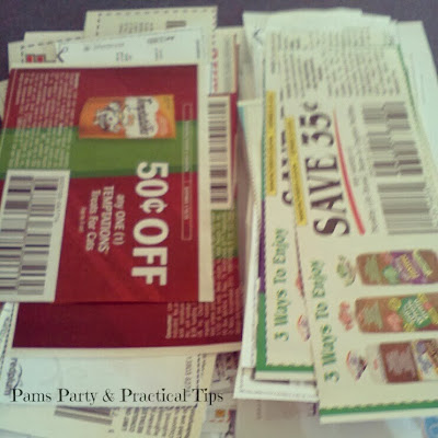 Coupons to use on shopping trip