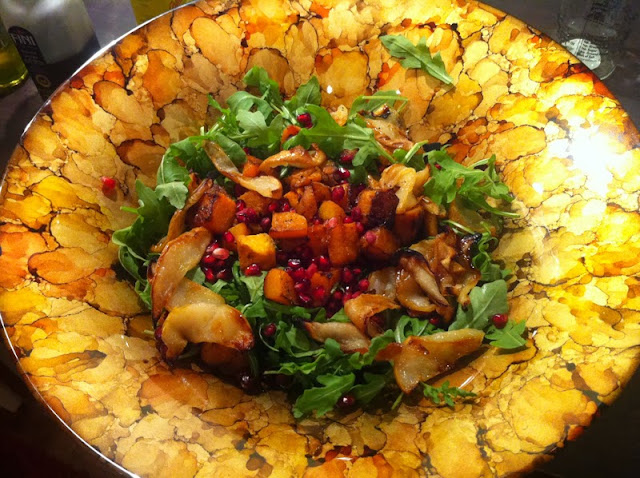 Roasted Butternut Squash, Pear & Pomegranate Salad recipe