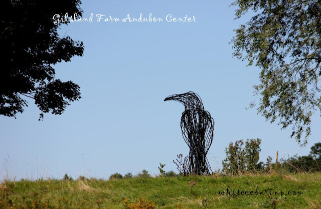 crow sculpture at Gilsland Farm