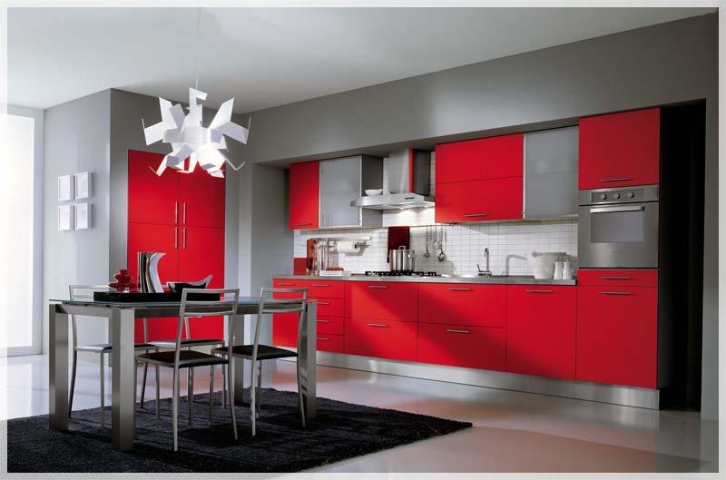 Røde kjøkken   interiør inspirasjon