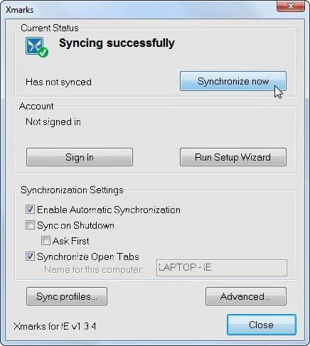 كيفية مزامنة قائمة المواقع المفضلة لبرنامج Internet Explorer