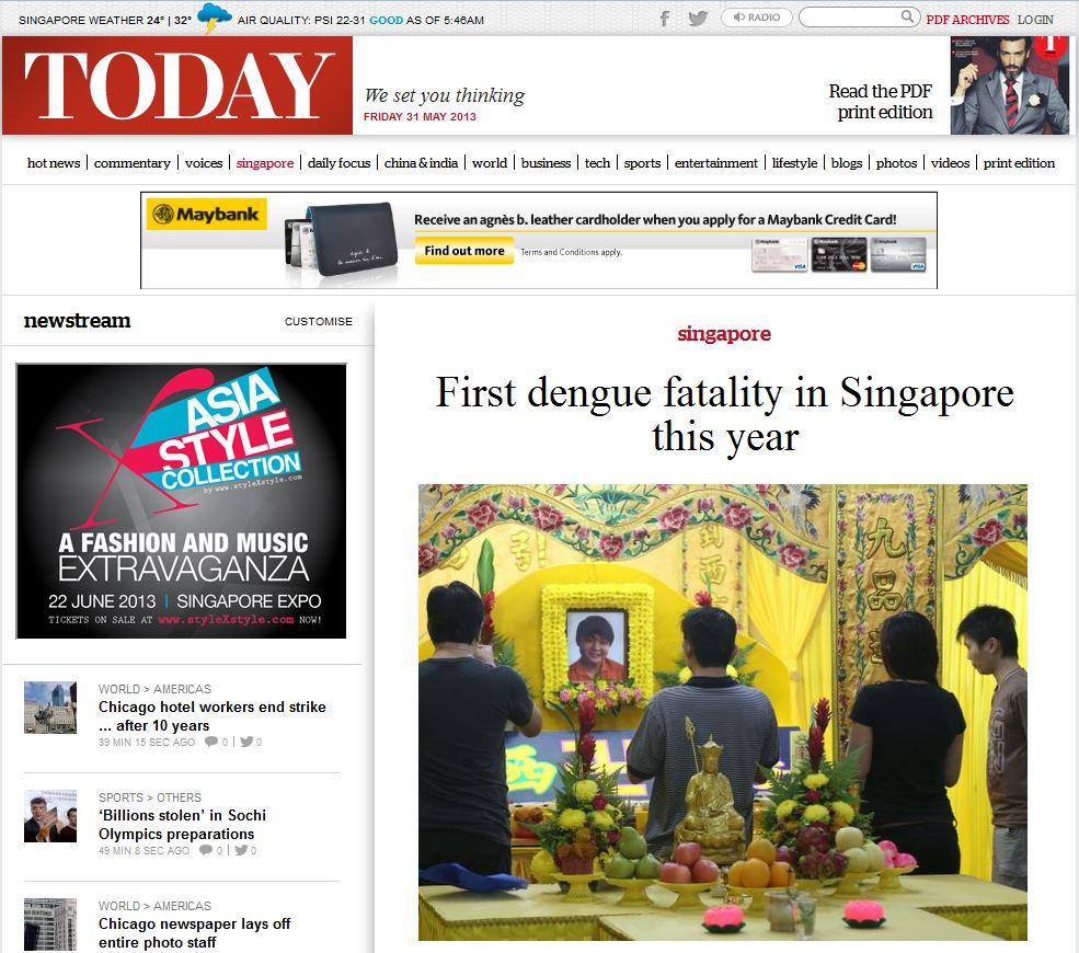 Karri family clinic tampines 05012013 06012013 singapores reports its first dengue fatality this year reheart Image collections