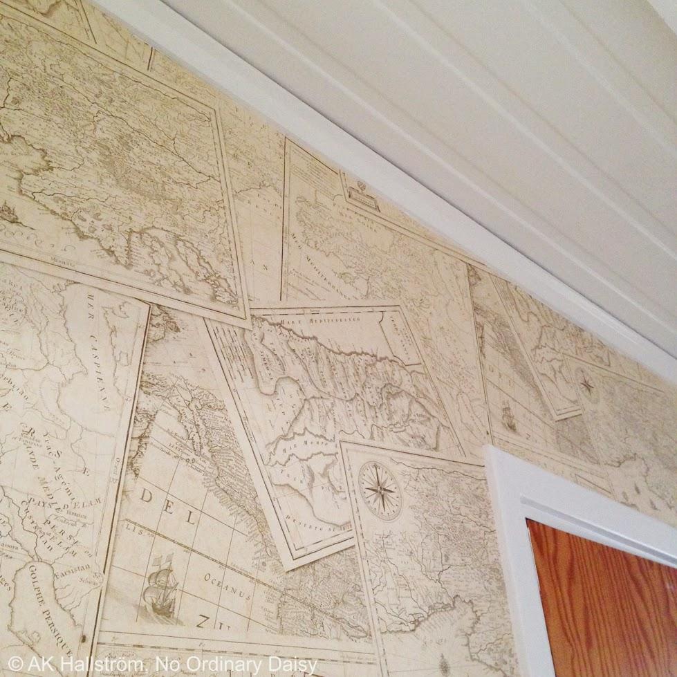 No Ordinary Daisy pysselblogg: Kajutan : tapeter på rusta : Inredning