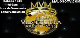 Miss Venezuela 2013 en vivo por Venevision