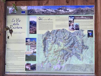 Le Vie della Raschera map, Comune di Roccaforte Mondovìi.