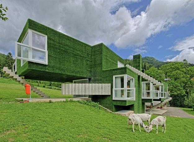 في النمسا واحد من أغرب المنازل التي شيدت وتم تغطيتها بالعشب الأخضر Grass-Covered-House-in-Frohnleiten-by-ORTIS-GmbH-5