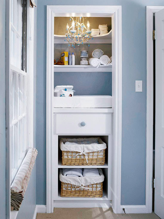 11 organized small living spaces to inspire you organizing made fun 11 organized small living - Changing table for small spaces gallery ...