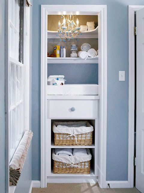 nursery changing table closet nook