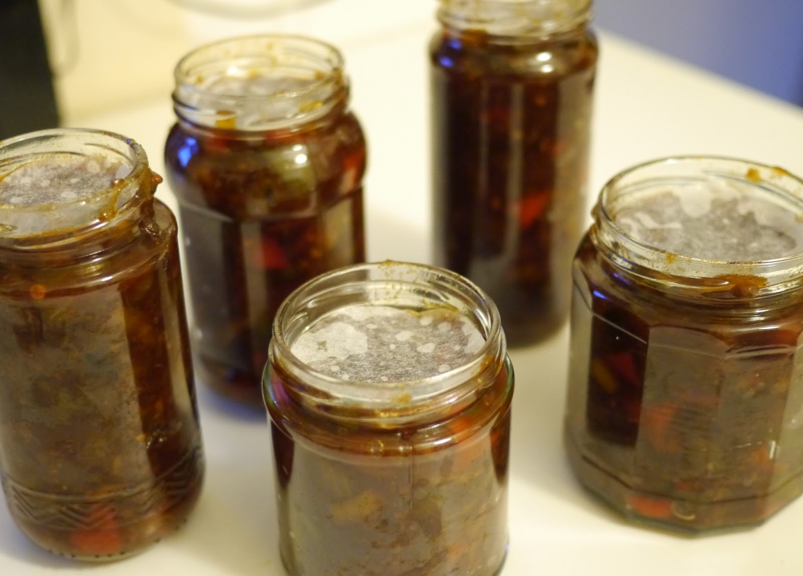 Homemade Christmas Chutney in Jars