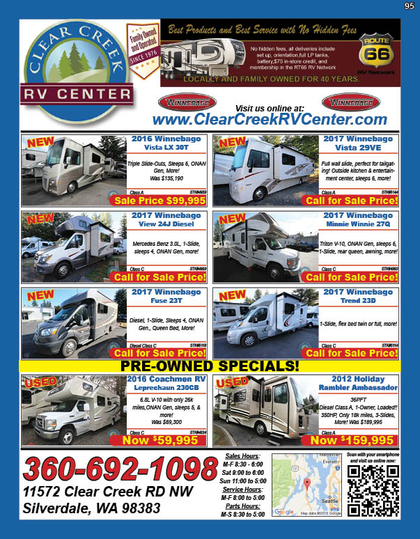 Clear Creek RV Center Family Owned & Operated Since 1976!